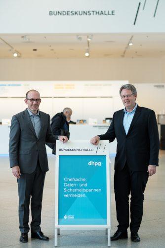 Herr Prof. Blum und Herr Lau (IT-S Veranstaltung in der Bundeskunsthalle / www.dhpg.de)